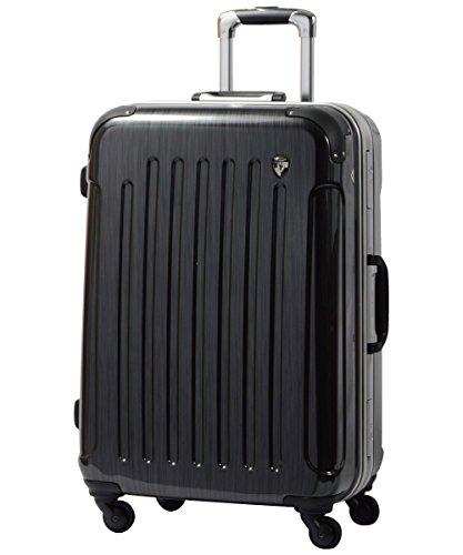LM型 スクラッチガンメタ / newPC7000 スーツケース キャリーバッグ TSAロック搭載 鏡面加工 大型 (5〜10日用)