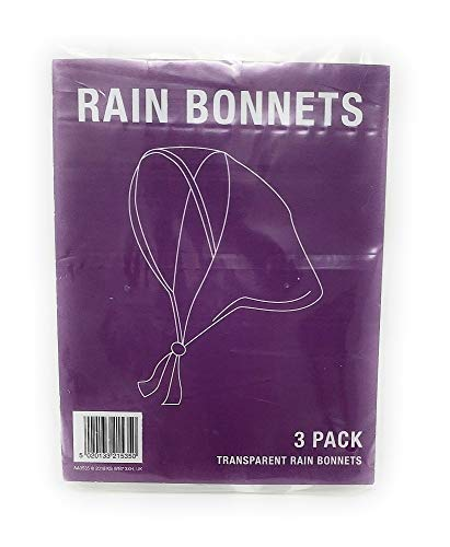 3 Clear RAIN Bonnets - Bonnet New Plastic Emergency HAT Protector Cheap...