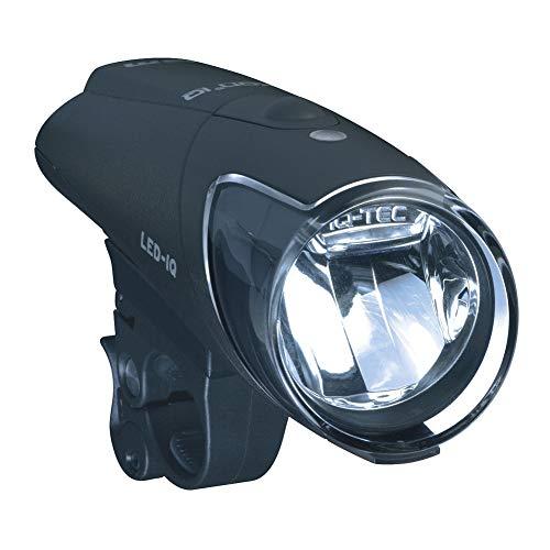 Busch & Müller Fahrradlicht Lichtset IXON IQ mit Ladegerät Akkus Akkuscheinwerfer, schwarz, one size