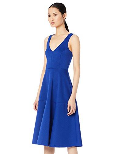 Amazon-Marke: TRUTH & FABLE Damen Midi-Ballkleid, Blau (Blue), 32, Label:XXS