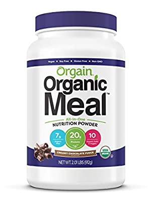 Orgain Organic Plant Based Meal Replacement Powder, Vegan, Gluten Free, Non-GMO, 2.01 Pound, 1 Count, Packaging May Vary from