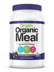Includes 1 (2.01 pounds) Orgain organic plant based creamy chocolate fudge meal replacement all-in-one nutrition powder 20 grams of organic plant based protein, 7 grams of organic dietary fiber, no sugar added. Contains Orgain's original organic spro...