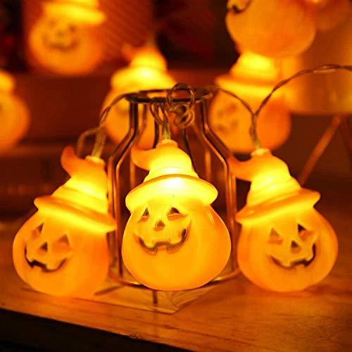 lpf Halloween-Kürbis-String leuchtet Leuchten String bar EIN Kleiner Kürbis leuchtet hell und dekorative Leuchten Kürbis-String (Color : Battery, Size : 1.5M10LIGHTS)