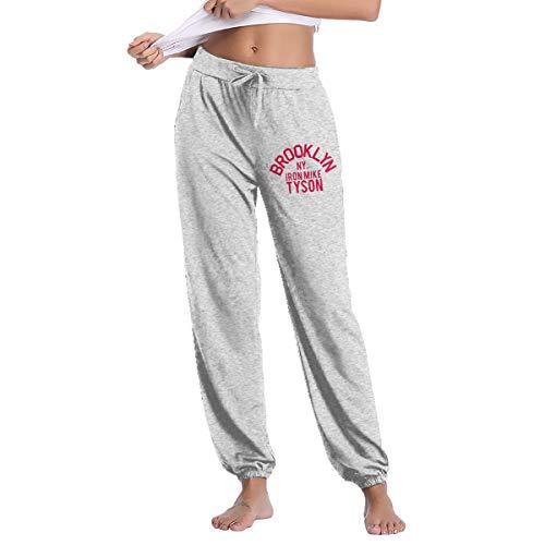Pz1314555 Brooklyn My Iron Mike Tyson Womens Comfort Soft Sweatpants Gray