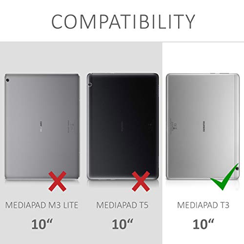 kwmobile Huawei MediaPad T3 10 Hülle - 360° Tablet Schutzhülle Cover Case für Huawei MediaPad T3 10 - 6