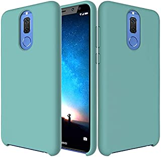 CTMYRYPD-fashion case Premium Ultra Slim Shockproof Liquid Silicone Soft Rubber Comfortable Protective Case for Huawei Mate 10 Lite/Maimang 6 Fashion (Color : Light Blue)