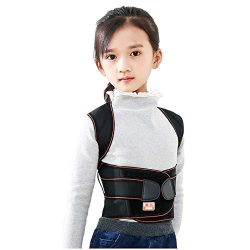 HBRT Haltungskorrektur für Kinder, Rückenstütze Double Stretch Verstellbar Bequem Atmungsaktiv, 21 Tage, um Gute Gewohnheiten zu entwickeln,M