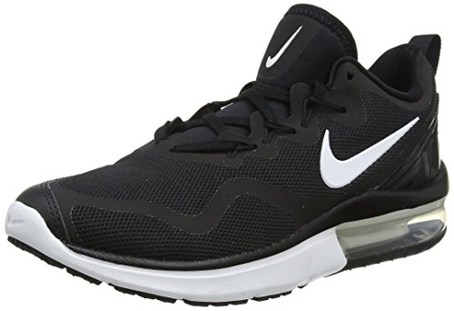 Nike Men's Air Max Fury Running Shoes (10, Black/White-Black)