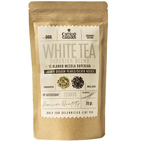 Te Blanco Premium Pai Mu Tan & Silver Needle | Hojas enteras recolectadas a mano | Potente Antioxidante Natural | Te Saludable y Depurativo | Fuente de Vitaminas y Minerales | Superior Blend 70g