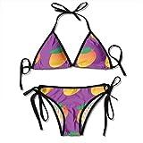 Mujeres fresh mango seamless pattern background dos piezas bikini para mujer set de dos piezas