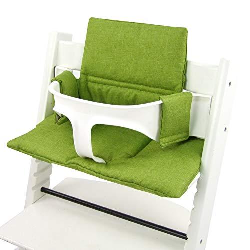 BAMBINIWERLT reserveovertrek, kussenset voor hoge stoel/kinderstoel Stokke Tripp Trap, stoelverkleiner (gemêleerd origineel,) XX gemêleerd lichtgroen ORGI.