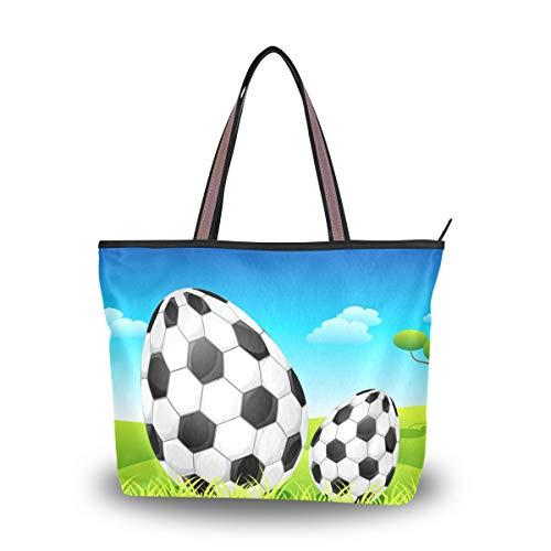 Damen Schultertasche, Frohe Ostereier, Fußball-Griff, große Tragetasche, Mehrfarbig - multi - Größe: Medium