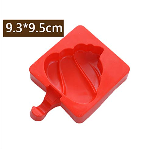 Coner siliconen ijsvorm Popsicle Mallen Popsicle Maker Holder Frozen Ice Mold met Popsicle Sticks Kitchen Tools, 06