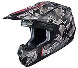 HJC Unisex-Adult Off Road Motorcycle helmet CS-MX II Sapir Graphic (MC-1SF Grey/Black/Red, Large)