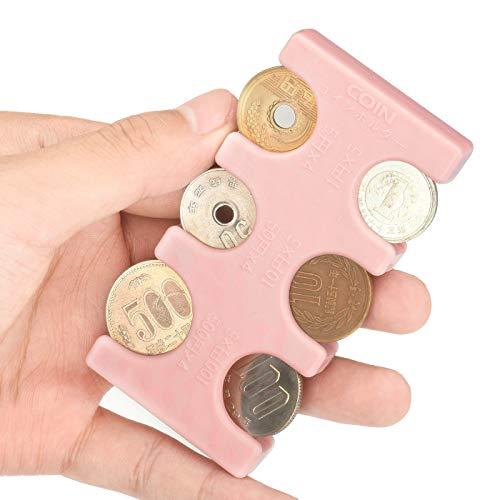 Drado 携帯 コインホルダー 小銭入れ ピンク 2775円収納 (本体-ピンク/PINK)