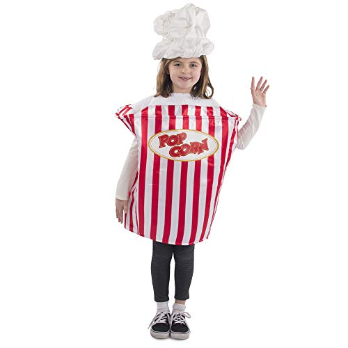 Dress Up America Popcorn Movie Night Costume For Kids Disfraces , Multicolor ( Multi ) , One Size Unisex Adulto