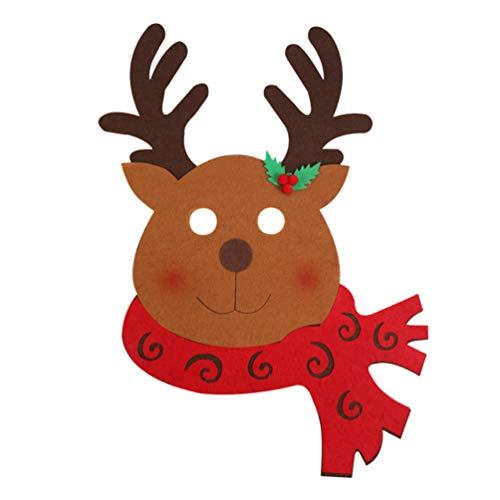 Amosfun máscara de Reno de Navidad no Tejida Cosplay de Navidad Fiesta de Disfraces máscara de Broma Prop para Suministros de Fiesta de Navidad