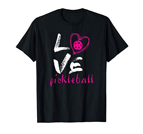 I Love Pickleball T-Shirt Funny Pickle Ball Tee for Player T-Shirt