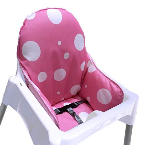 ZARPMA IKEA Antilop Cojín para trona, nueva versión, fundas para asiento de bebé, más gruesas, lavables y plegables, acolchado para silla infantil (rosa)