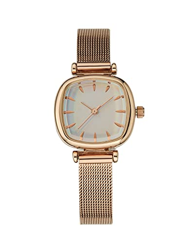 CIVO Relojes de Señoras Acero Inoxidable Minimalista Impermeable Diseñador Moda Relojes de Cuarzo Analógicos para Mujeres con Esfera Elegante Casual Relojes Blanco