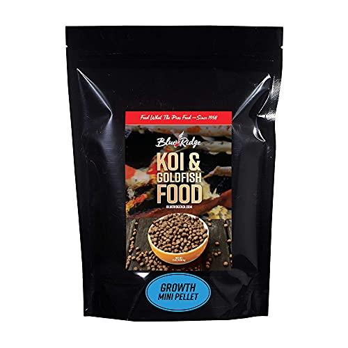 Blue Ridge Fish Food Pellets [2lb] Koi and Goldfish Growth Formula, Mini Floating Pellet, Balanced Diet