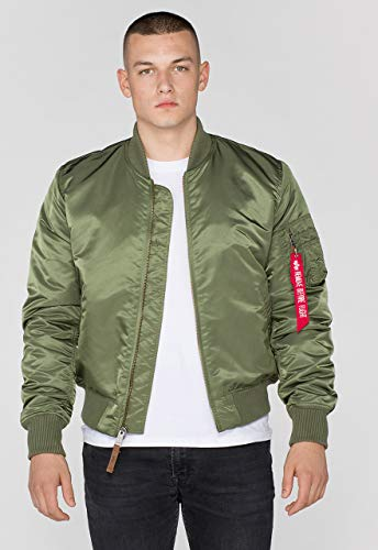 ALPHA INDUSTRIES Ma-1 Vf 59 Jacket, Vert (Sage Green 01), S Homme