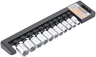 Juego 10 llaves de vaso largas de 1//2 UNE 16507 DIN 3124 Cr-V cromado mate de 10-22 mm ALYCO 192518