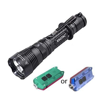 Combo: EAGTAC G3L Type-C Rechargeable Lampe de poche tactique – CREE XHP70.2 LED – 3200 lumens avec pointe USB rechargeable pour l'hiver – 360 lumens avec options de couleur