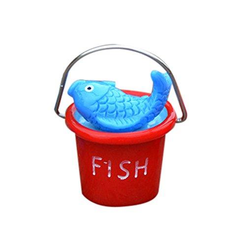 Resin Miniature Beach Bucket DIY Craft Accessory Home Garden Decoration, Home Decor, for Christmas Day (RD)