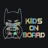 HungMieh Car Stickers Decals Kids/Baby ON Board Stickers for Baby Laser Material Car Styling Bumper Stickers Car Body Door Window Stickers Vinyl 7.48'x5.51' (Kids On Borad)