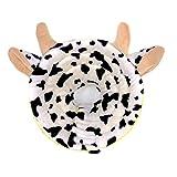 MJL Collar Recuperación Protector Suave para Mascotas Cuello Mascota Ajustable Elizabeth Cuello Forma Animal Algodón Curación de Heridas para Perros y Gatos #4 L
