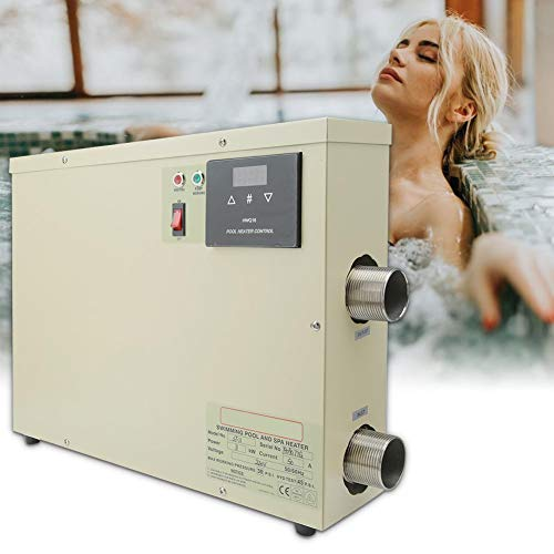 Pbzydu 5.5KW Pool Heizungs Thermostat, intelligenter wasserdichter Warmwasserbereiter Thermostat Digital mit Noten Prüfer für Badewannen Swimmingpool Badekurort(EU)