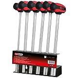 KS Tools 158.5000 Juego de destornilladores de llave de vaso con mango en T CHROMEplus, 6 pzs, 6-14 mm