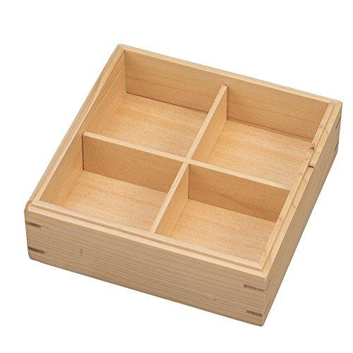 ナガオ木の器三段重箱木製JH001W