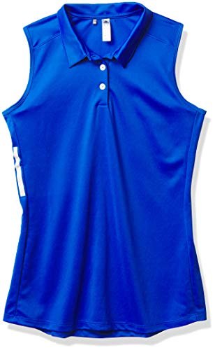 adidas Golf Sleeveless Polo Shirt, Glory Blue, Small
