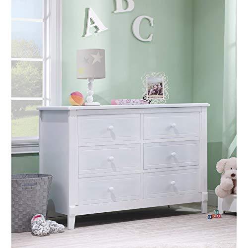 Sorelle Berkley Double Dresser, White