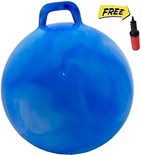 WALIKI Adult Size Hopper Ball | Jumping Ball | Hopping Ball | Bouncy Ball with Handles | Blue 29""