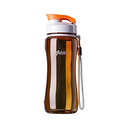 N-B Botella de agua de plástico portátil a prueba de fugas para deportes de viaje, bicicleta, senderismo, botella de agua de plástico