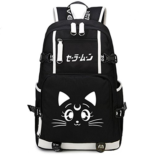 YOYOSHome Sailor Moon Anime Luna Cosplay Rucksack Laptop Daypack Bookbag Rucksack Schultasche