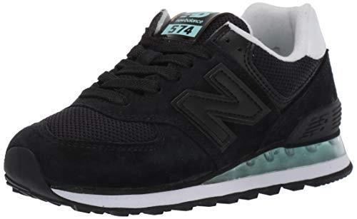 New Balance Women's 574v2 Sneaker, Black/Light Reef, 9 D US