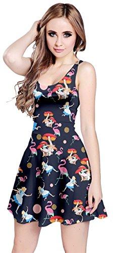 CowCow Womens Alice Navy Sleeveless Dress, Navy - L
