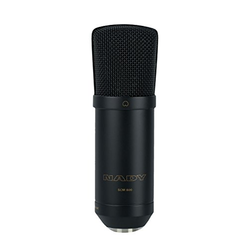 Nady SCM-800 Large Diaphragm Condenser Microphone – Studio quality, great for vocals, acoustic instruments, recording, podcasting, and more!