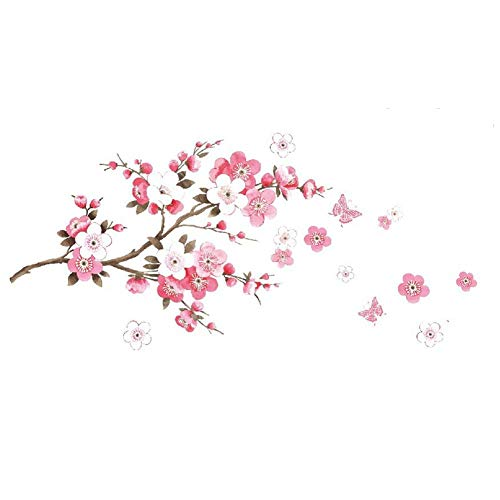 Sicond Cherry Blossom Wall Sticker Origami Flower Children Baby Baby Bedroom Living Room Office Wall Sticker 45cm*60cm