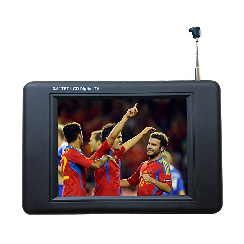 Chaowei DTV530 Portable ATSC Digital TV with 3.5' TFT LCD and Magnetic Base Antenna - Black
