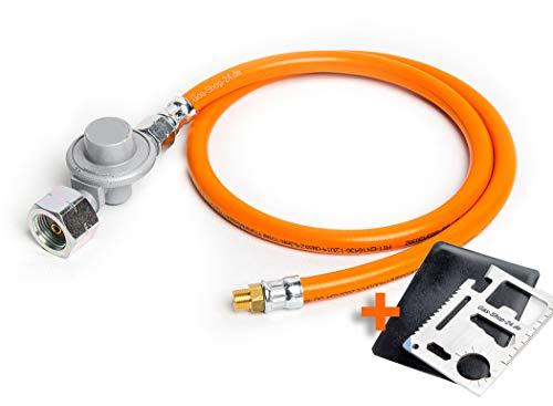 Umrüstset/Umrüst-Set von GASKARTUSCHE auf GASFLASCHE für eine Vielzahl von Gasgeräten (Gaskocher u. Gasgrills z.B. Q 100, 1000, 120, 1200 Performer, Travel Weber .)