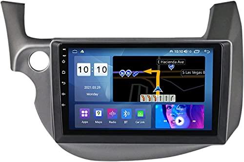 YIJIAREN Navigazione GPS Autoradio per Ho-nda Jazz 2007-2014, Schermo tattile IPS Android 10.0 Autoradio Stereo Supporta Il Controllo del Volante BT FM Mirror-Link 4G WiFi