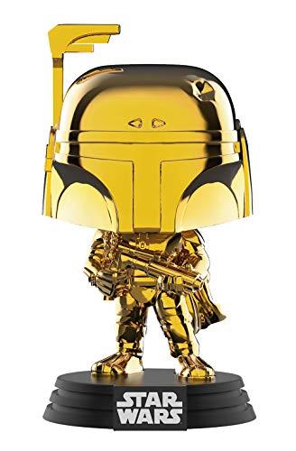 STAR WARS Funko Pop Chrome Boba Fett – Figura realizada en Vinilo y de Unos 9 cm de Altura (2019 Galactic Convention)