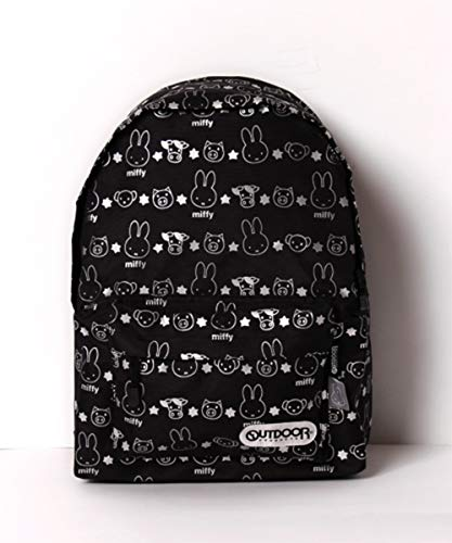 OUTDOOR PRODUCTS Miffy Backpack, Daybag for Kids, Black, 42x31cm, Japan Import