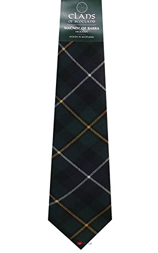 I Luv Ltd MacNeil of Barra Clan 100% Wool Scottish Tartan Tie