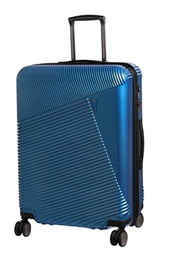 it luggage Metamorphic 8 Wheel Hard Shell Single Expander Suitcase Medium with TSA Lock Maleta, 69 cm, 100 Liters, Azul (Glass Blues)